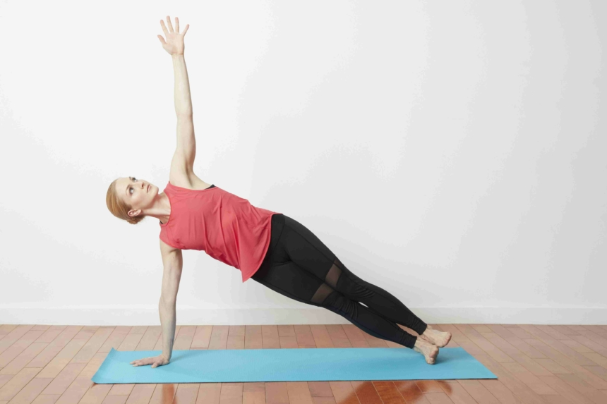 Vashishthasana (Straight arm stretch pose)