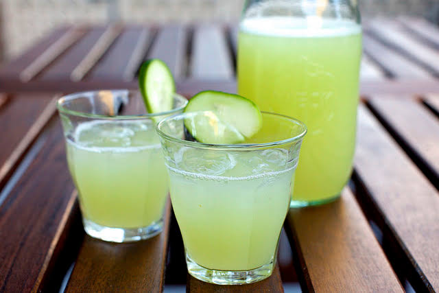Home made Cleansing cucumber lemonade