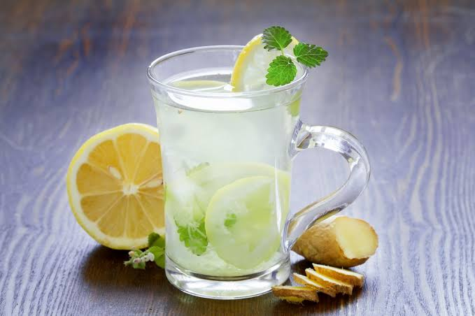 homemade Detox ginger lemonade